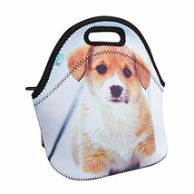 Neoprene Lunch Tote, OFEILY Children's Lunch Box Middle, Staring dog - $13.79