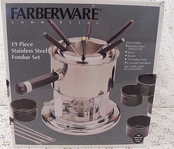 Farberware  NIB Stainless Steel Fondue Set 19 PC - $26.68