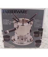 Farberware  NIB Stainless Steel Fondue Set 19 PC - $26.68