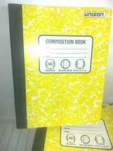PACK OF 6 Unison Composition/Notebook 80 Sheets College Ruled- QUANTITY DISCOUNT