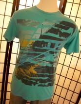 Hang Ten Boardwalk & Pier on a cool blue cotton tee shirt large l - $19.95