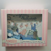NIB American Girl Angelina Ballerina In Blue Tutu Book & Doll Set Rare - $79.99