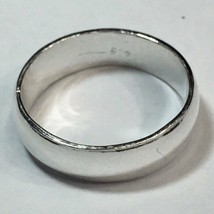 Handmade solid 990 Silver high polished glossy plain wedding Ring Band  ... - $33.62