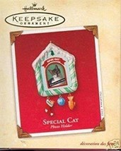 2002 Hallmark Special Cat Photo Holder Christmas Ornament - $14.99