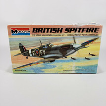1985 Monogram British Spitfire Airplane Plastic Model Kit 1:48 RAF Vinta... - $20.00
