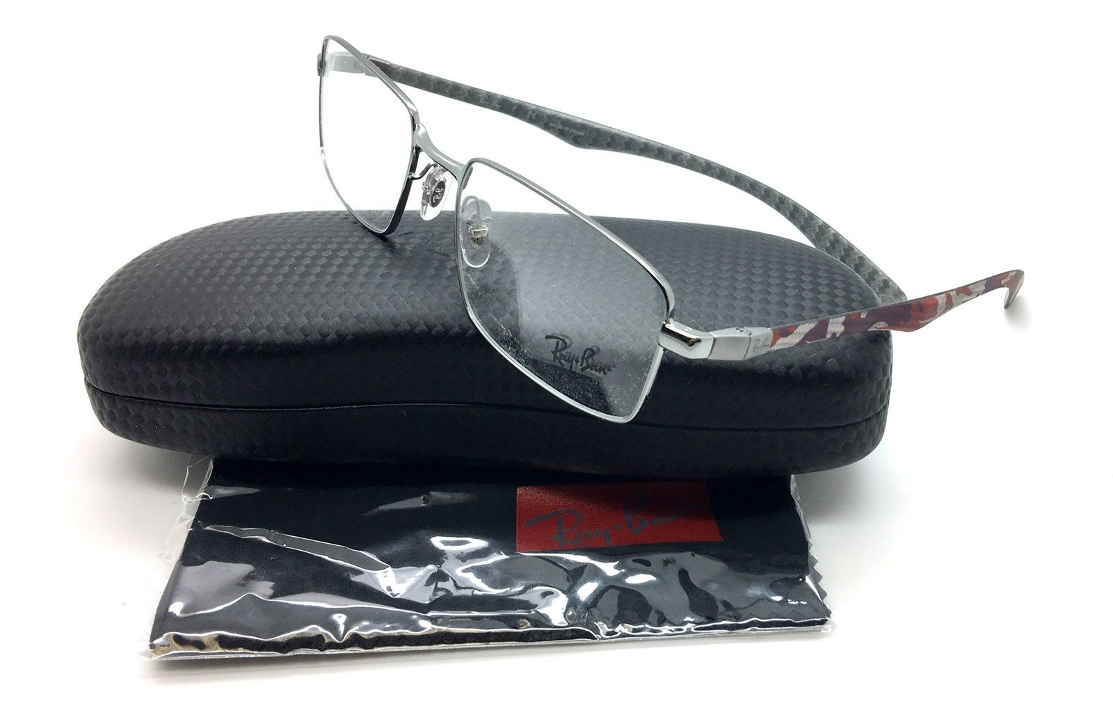 3a90e892c1 Ray Ban Silver Red Camo Carbon Fiber   and 13 similar items. S l1600