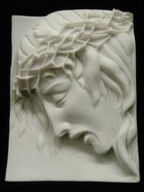Jesus Christ Catholic Religious Wall Plate Plaque Statue Vittoria Made in Italy - $49.95