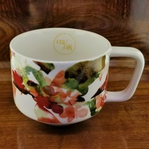 NEW 2014 Starbucks Peach Blossom Floral Watercolor Coffee Mug 12 Oz - $24.95