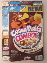 Empty GENERAL MILLS Cereal Box 2008 Cocoa Puffs COMBOS 11.7 oz Vanilla! ... - $11.52