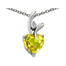 7MM OR 9MM LADIES UNIQUE HEART SHAPE CITRINE PENDANT SOLID 14K GOLD SETTING - $25.82+