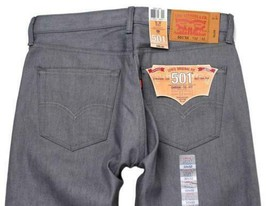 NEW LEVI'S 501 MEN'S ORIGINAL FIT STRAIGHT LEG JEANS BUTTON FLY GRAY 501-1403