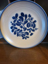 "Dinner Plate Folk Art By Pfaltzgraff 10"" - $30.00"