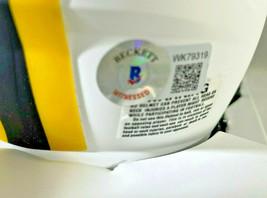 ROBERT TONYAN / AUTOGRAPHED GREEN BAY PACKERS LUNAR ECLIPE MINI HELMET / BECKETT image 6