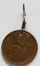 Handcrafted Earring:  Lincoln Wheat Penny - $3.93 CAD