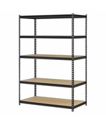 5 Shelf Metal Storage Rack Steel Shelving Adjustable Heavy Duty 48 x 18 ... - $105.83