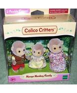 Calico Critters MANGO MONKEY Family Set New - $21.88