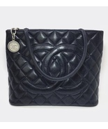 AUTHENTIC CHANEL QUILTED CAVIAR PST PETITE SHOPPING TOTE BAG BLACK SHW R... - $1,599.00