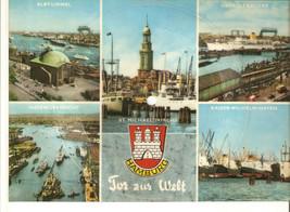 Old Musical 45rpm Record Postcard Schallbildkarte Tor z. Welt Hamburg Wa... - £8.02 GBP