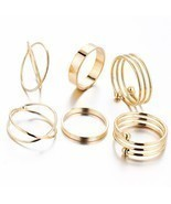 Endless Friendship Hot 6 PCS Ring Set Best Selling Unique Ring Set Punk ... - $85,14 MXN