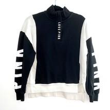 PINK Black White Sweatshirt Sweater Small - $30.07
