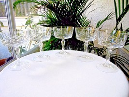Set of 5 Cris D' Arques #56 Clear Crystal Champagne Glasses - $46.52
