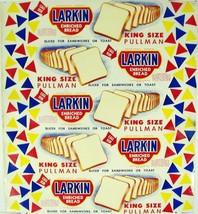 Vintage bread wrapper LARKIN KING SIZE PULLMAN Elizabethton Tennessee un... - $12.99