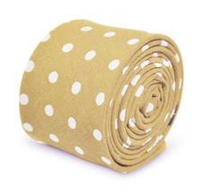 Frederick Thomas mens beige polka spot mens cotton tie FT3347