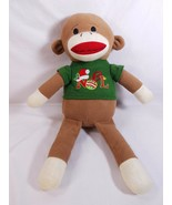 "Dan Dee 20"" Noel Christmas Holiday Sock Monkey Stuffed Plush Toy Collect... - $13.85"