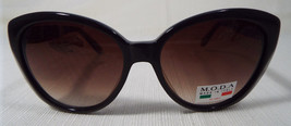 MODA IM104 Brown and Bronze Cat-Eye Sunglasses Rx-able Lenses Made in Italy New - $48.00