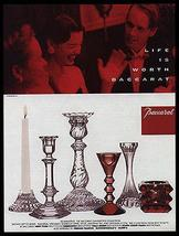 Baccarat Paper AD Candlestick Collection 1998 - $10.99