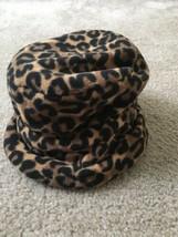 Merona Women's Lined Hat MultiColor Fleece Bucket Leopard Print Hat - $48.51