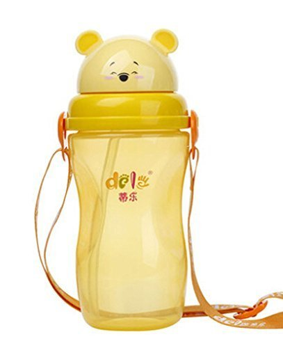 Simple Baby Sippy Cup Children Spout Training Cup Infant Bottle ORANGE