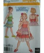 GIRLS DRESS, TOP, SKIRT AND PURSE SIZES 3-4-5-6-7-8 SIMPLICITY DAISY KIN... - $12.82