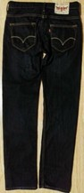 Awesome Men Slim Fit Levi Pair of Jeans Size 29 X 32 Dark Blue Washed - $15.83