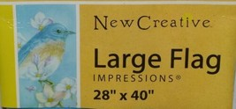 New Creative 25379 Impressions Bluebird Blossoms Indoor Outdoor Garden Flag image 2