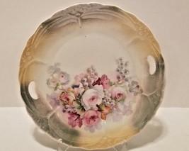 Lovely Germany German Porcelain Rose & Grapes Green Peach Lustre Handled... - $14.55