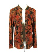COLDWATER CREEK Size 8 Slinky Knit Floral Paisley Jacket Travel - $19.99