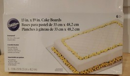 "Package of 6 - Wilton 13"" X 19"" Cake Boards - Sturdy Construction - $19.34"