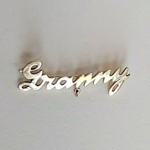Vintage Scripted GRANNY JMS 1/20-12k Gold Marked Brooch Pin Grandma Gram... - $14.03
