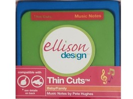 Ellison Design Thin Cuts Music Notes Die #22085