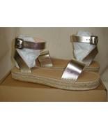 Soludos Cadiz Platinum Espadrille Ankle Strap Sandal Women's Size US 10... - $57.37