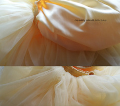 YELLOW Tulle Midi Skirt Outfit High Waisted 4-Layered Midi Tutu Puffy Skirt image 7
