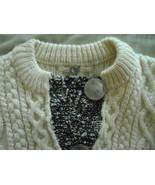 ONE GIRL WHO... Ivory White Wool Acrylic Blend Cardigan Sweater Sz M NWO... - $23.02