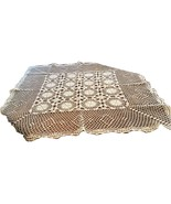 Vintage hand made crocheted table cloth - $40.00