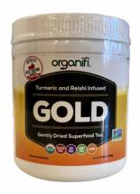 Organifi GOLD Dried Superfood Tea Turmeric and Reishi Infused Powder Glu... - $51.99