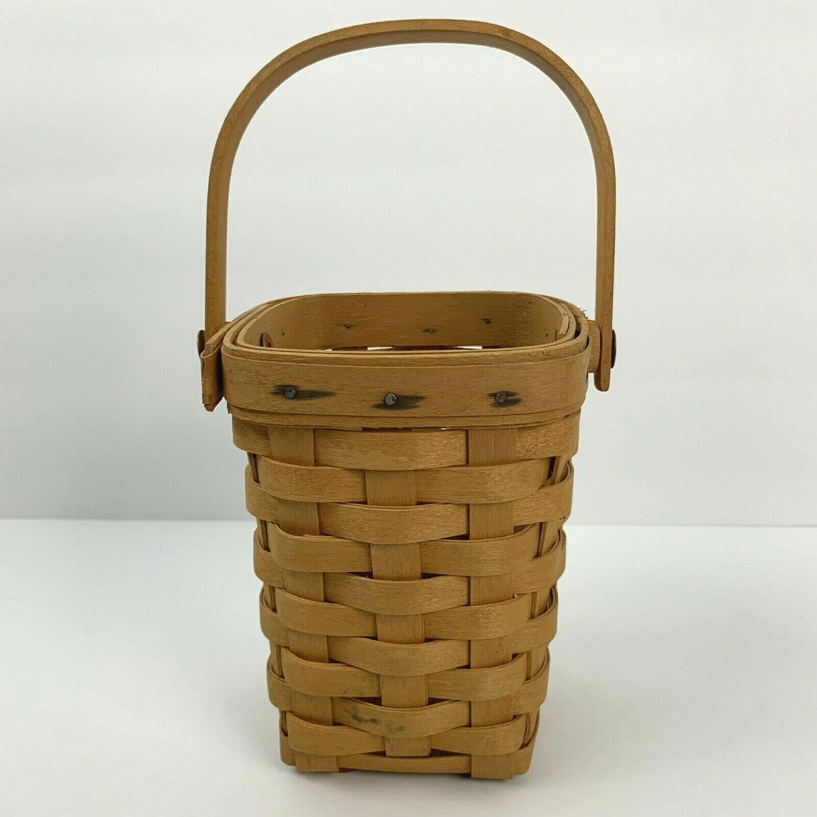 Longaberger Handled Basket 1998 Small American Cancer Society Signed