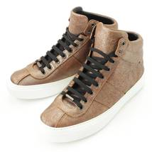 Authentic Jimmy Choo Leather High Cut Shoes Brown Size 41 Grade S Used - Md - $692.33