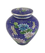 Large/Adult Cloisonne Lily Dragonfly Funeral Cremation Urn For Ashes 200... - $279.99