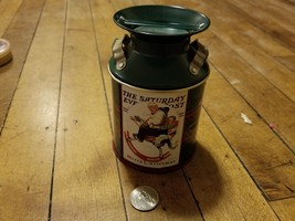 """""""Milk Can"""" Cookie Tin  Saturday Evening Post Merry Christmas 2004 - $4.99"""