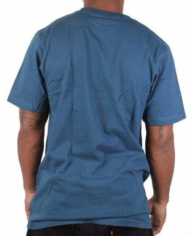 LRG Hombre Azul Náutica Gills Y Granos Oro Peces Liquor Bebible Camiseta Nwt